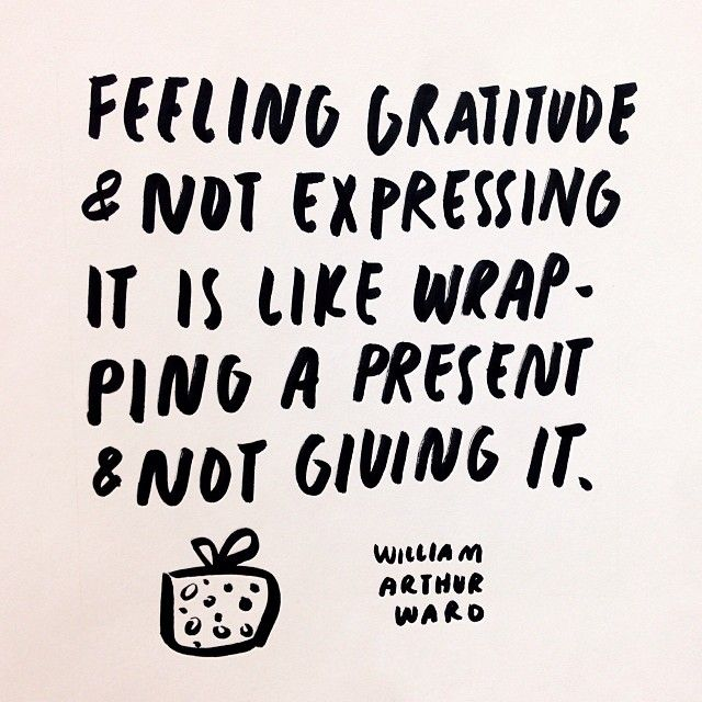 show gratitude to loved ones